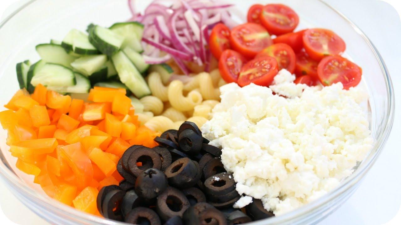 REZEPT  | Griechischer Nudel SALAT sehr lecker | SweetLifeSunShine