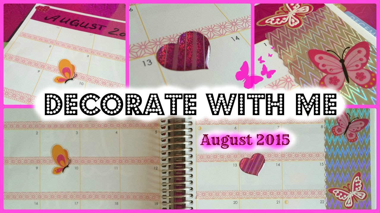 Month Decoration | Decorate Your Planner with ME | August 2015