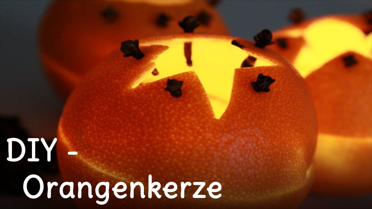 DIY - Orangenkerze selber machen