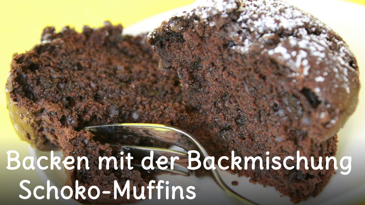 Schoko-Muffins mit der Backmischung aus dem Glas