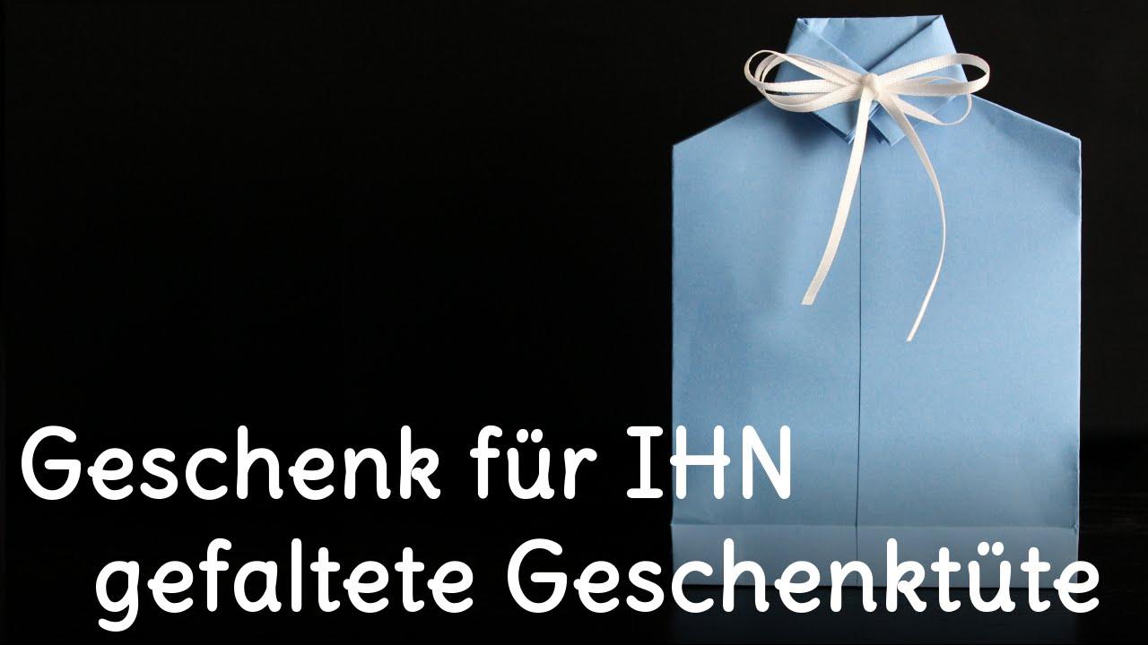 DIY | Geschenk für IHN - gefaltete Geschenktüte | SweetLifeSunShine