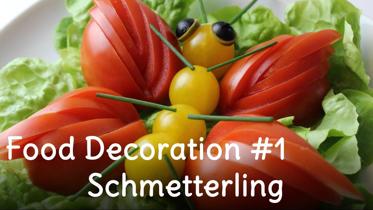 Beilagensalat | Salat dekorieren #1 - Schmetterling aus Tomaten | SweetLifeSunShine