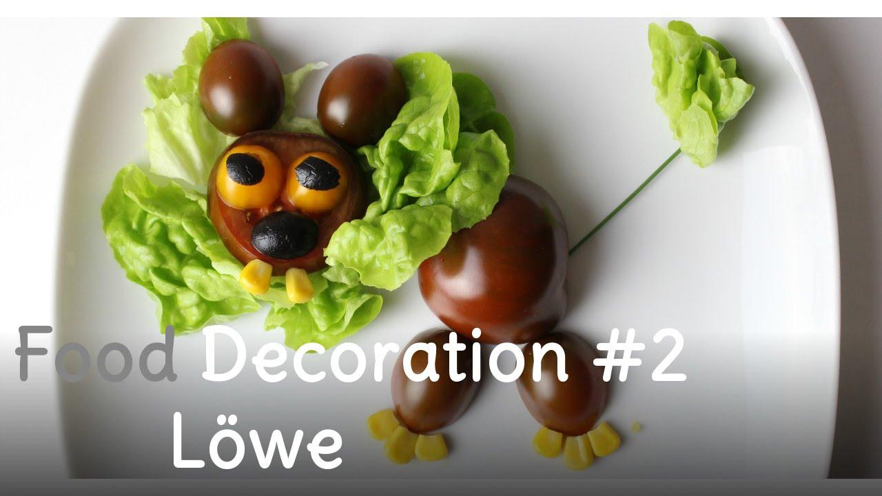 Beilagensalat | Salat dekorieren #2 - Löwe aus Tomaten