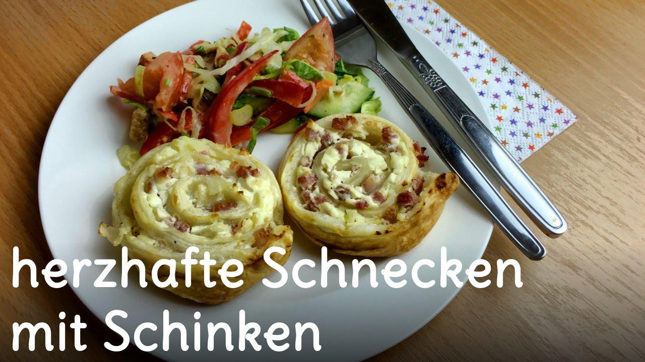 REZEPT | Schinken-Schnecken | herzhafte Schnecken mit Schinken | SweetLifeSunShine
