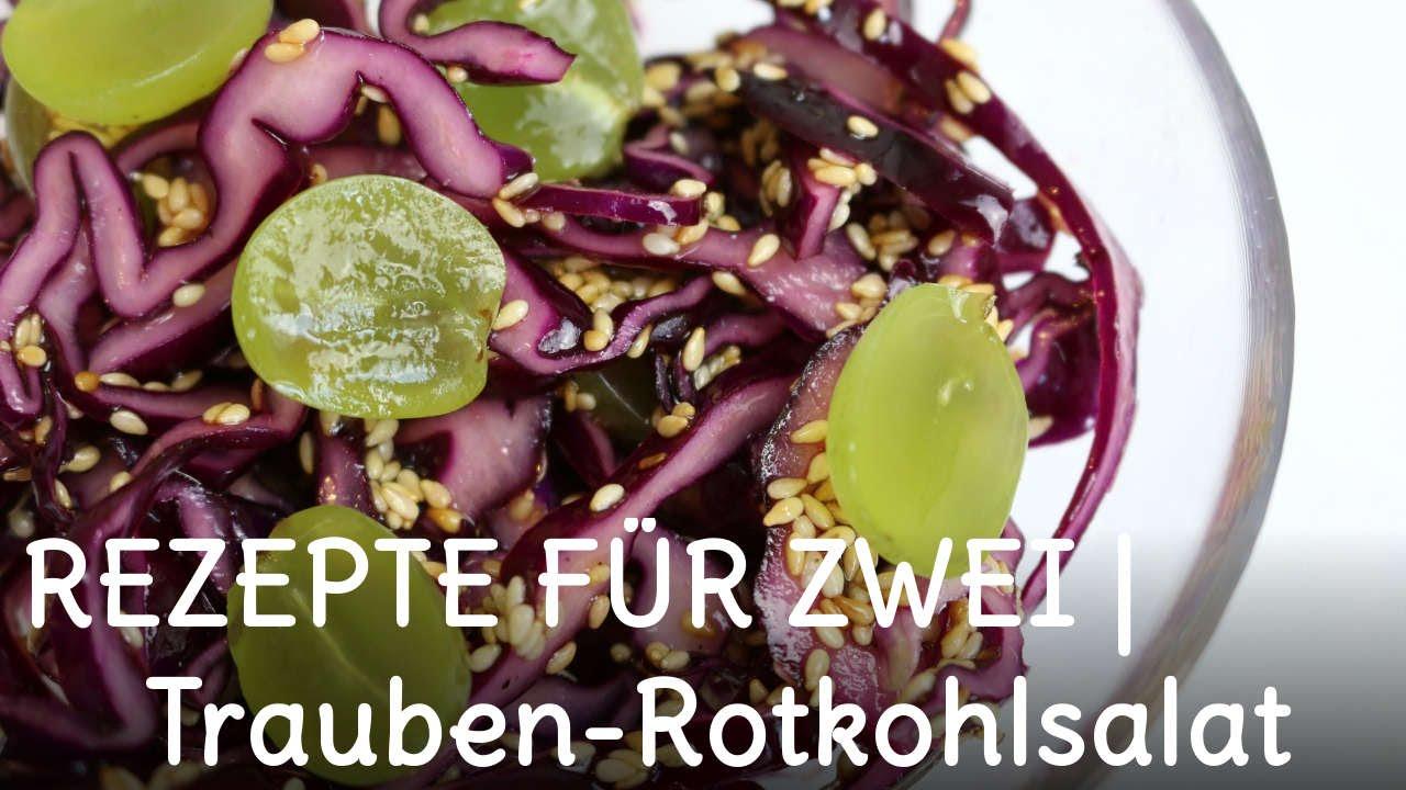 REZEPT | Trauben-Rotkohlsalat mit Sesam | Sweetlifesunshine