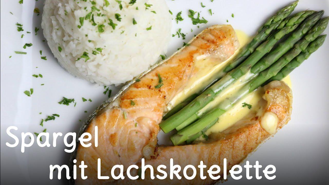 Grüner Spargel mit Lachskotelette | SWEETLIFESUNSHINE
