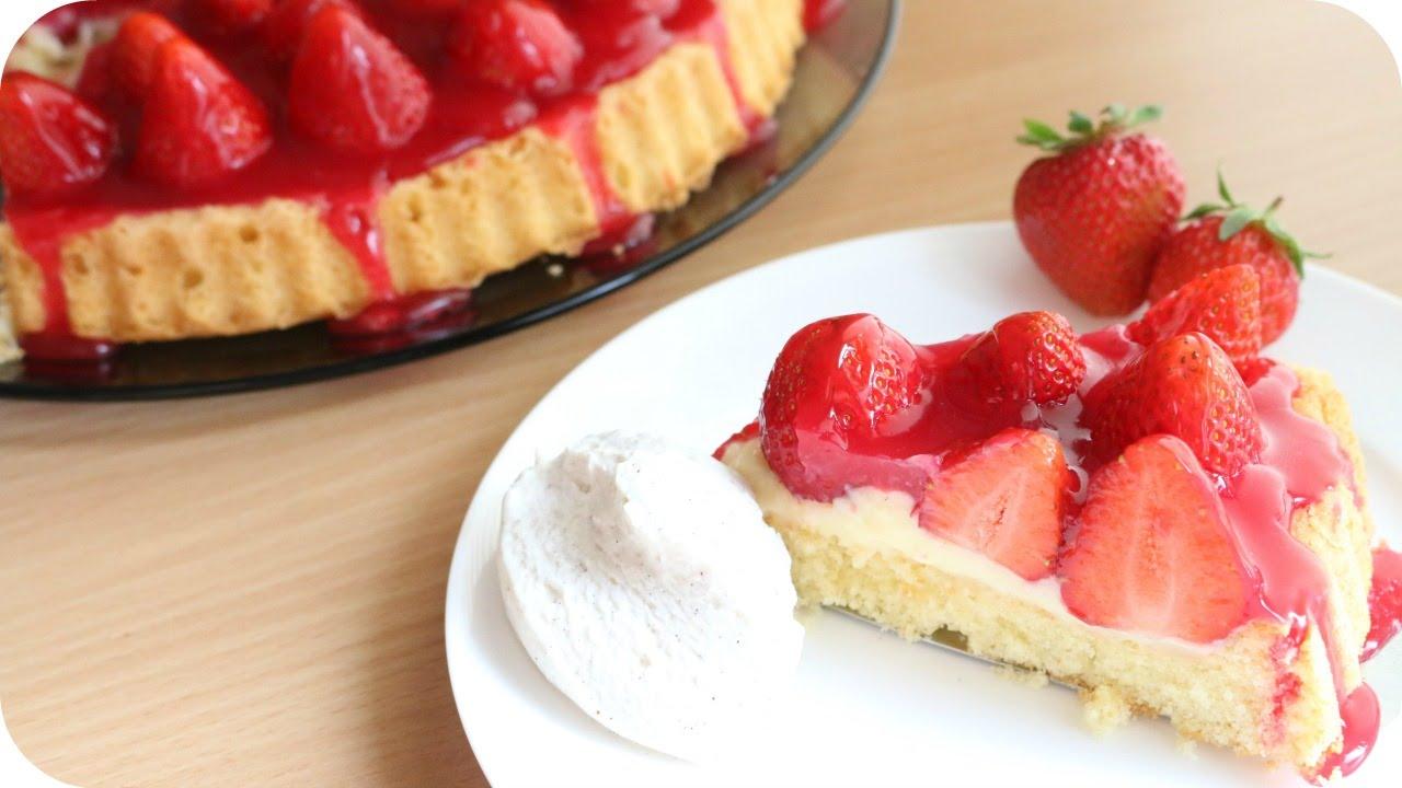 REZEPT | Erdbeerkuchen | Obstboden mit Erdbeeren | SWEETLIFESUNSHINE