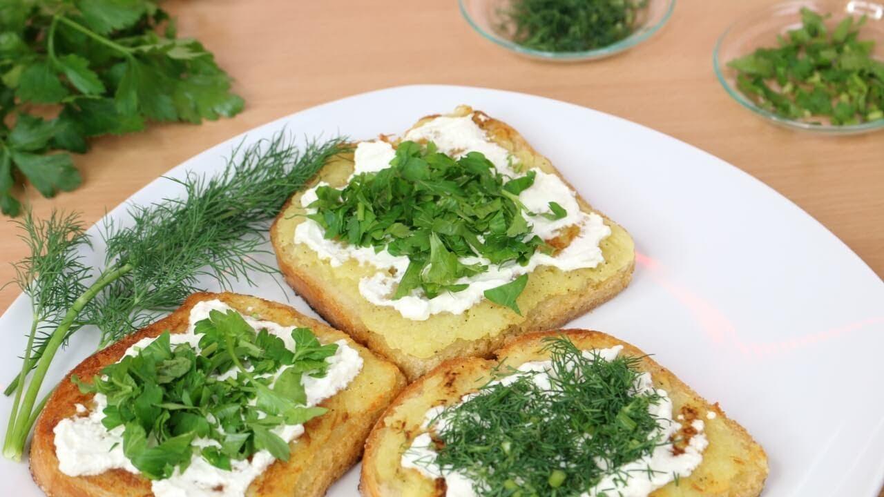 Studenten-SNACK | Heiße Brote mit Kartoffeln | Sweetlifesunshine