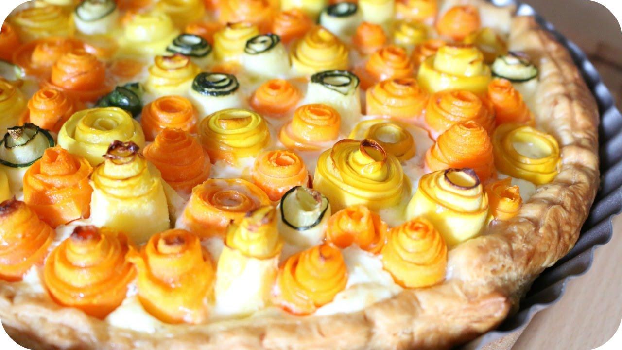 REZEPT | Zucchini Karotten Rosen Tarte | SWEETLIFESUNSHINE