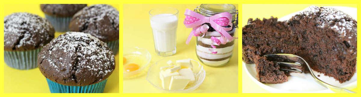 Schoko Muffins Mit Der Backmischung Aus Dem Glas Backen